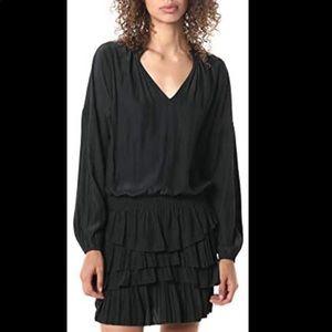 Ramy Brook NWT Black Juno Mini Dress Size Large